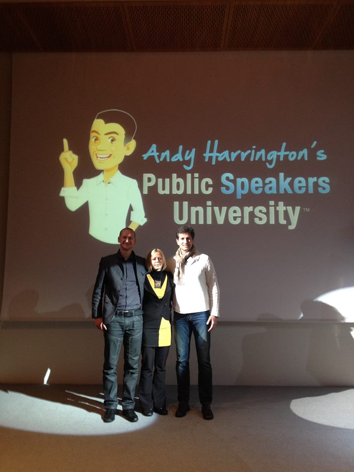 An evaluation of Public Speakers University workshops run by Andy Harrington and Cheryl Chapman